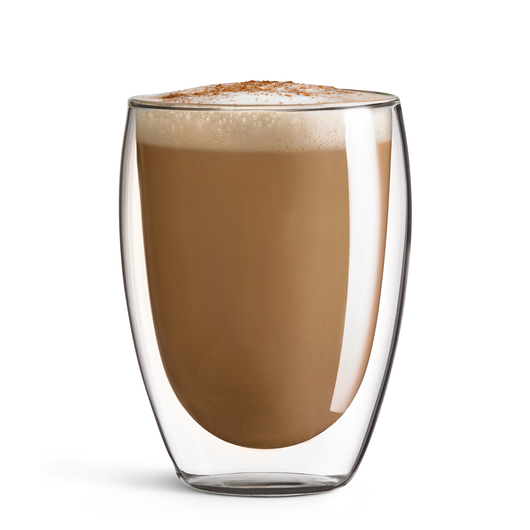 A freshly brewed 7-Eleven Latte coffee drink made with espresso and steamed milk.