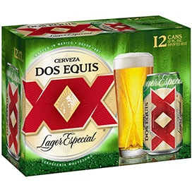 Dos Equis Larger Beer 12 Pack, available at a 7-Eleven near me 24/7.