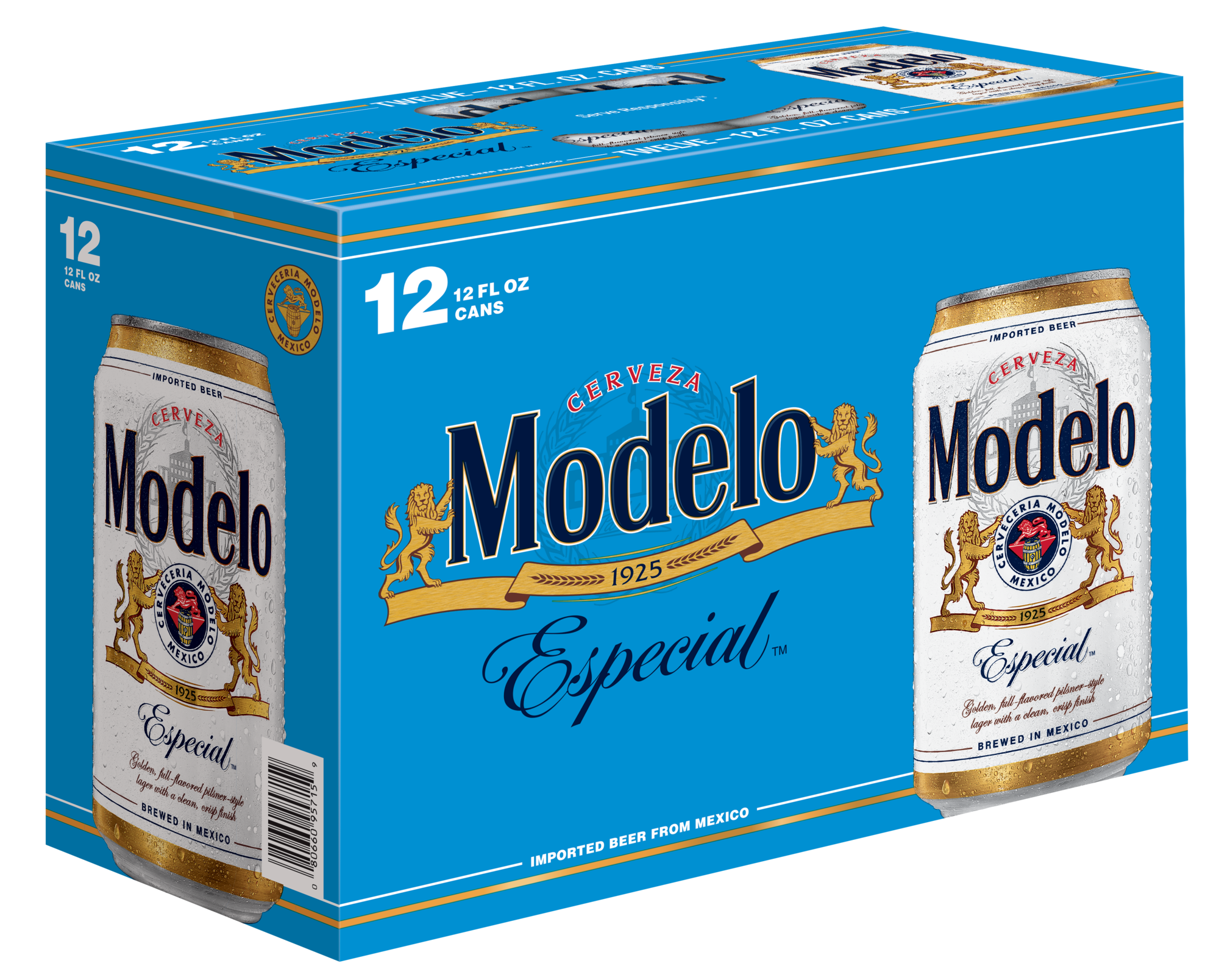 Modelo Especial beer 12 pack. Modelo beer available near me 24/7 at 7-Eleven.