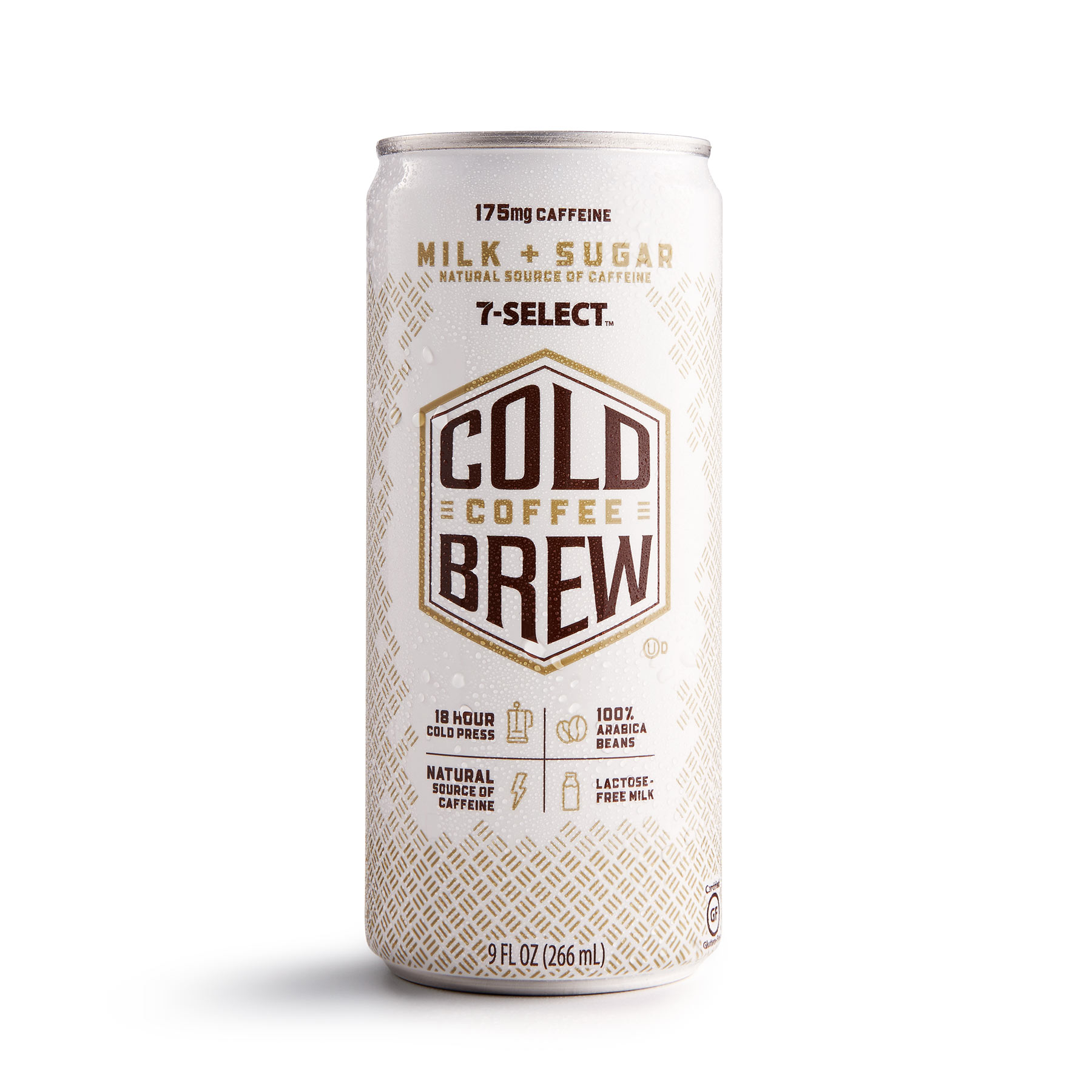 A 7-Select by 7-Eleven Cold Brew Coffee, milk and sugar flavor.