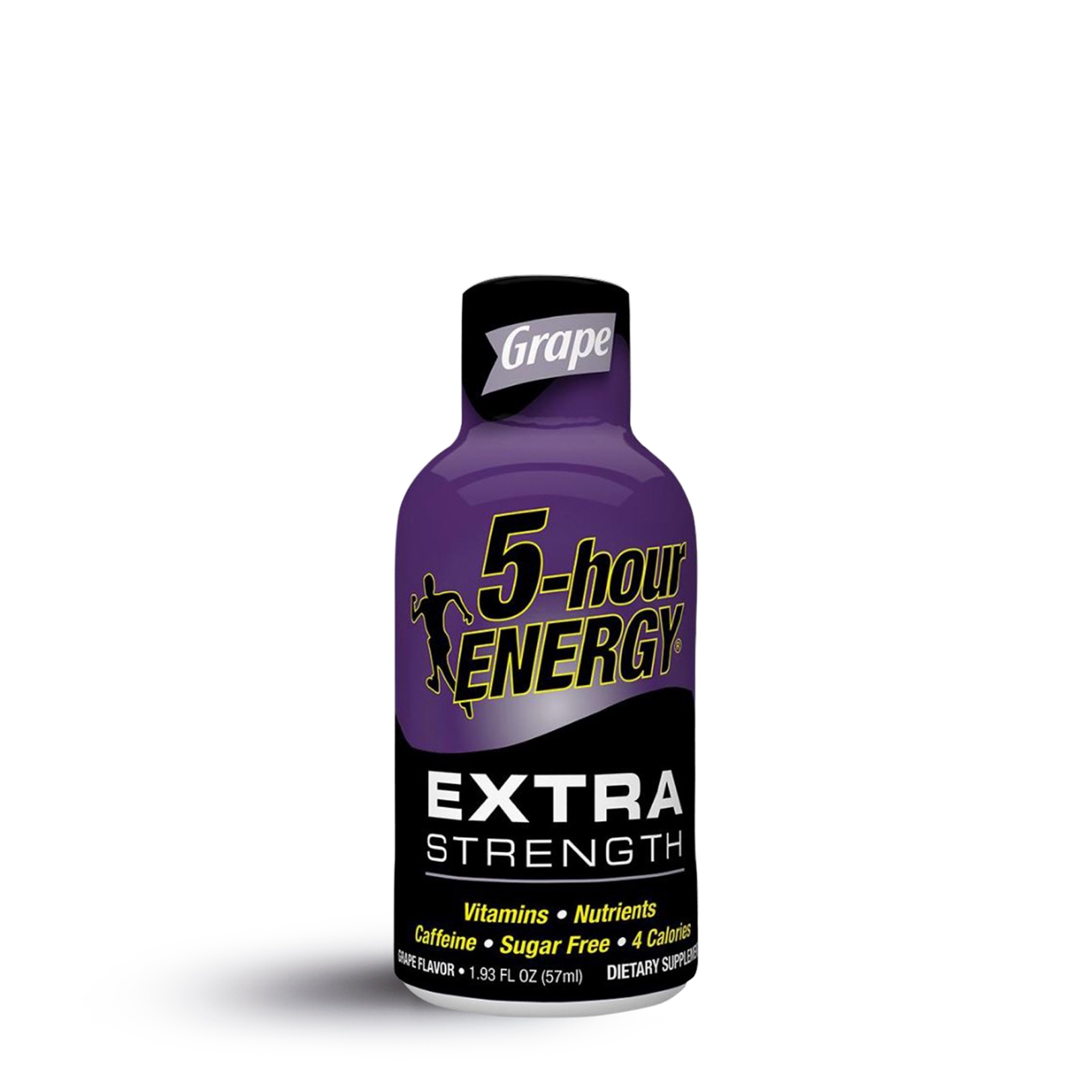A single 5-hour extra strength energy shot in grape flavor