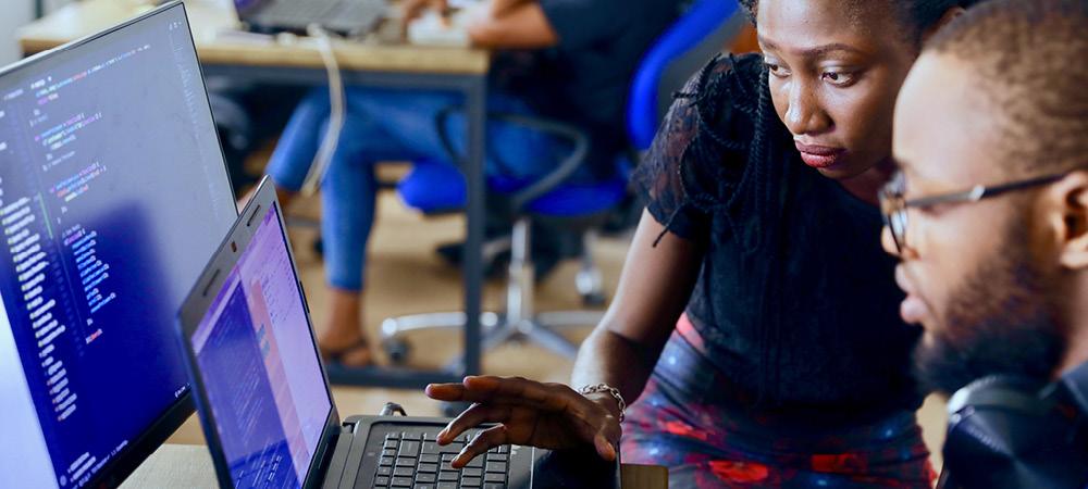 Jeunes professionnels dans le secteur IT