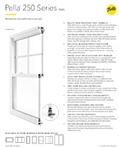 thumbnail for pella 250 series spec sheet