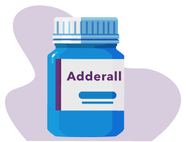 Illustration of a bottle of Adderall