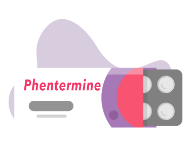 Illustration of a blist pack of Phentermine