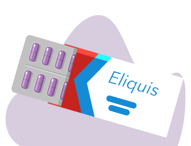 An illustration of a blist pack of Eliquis