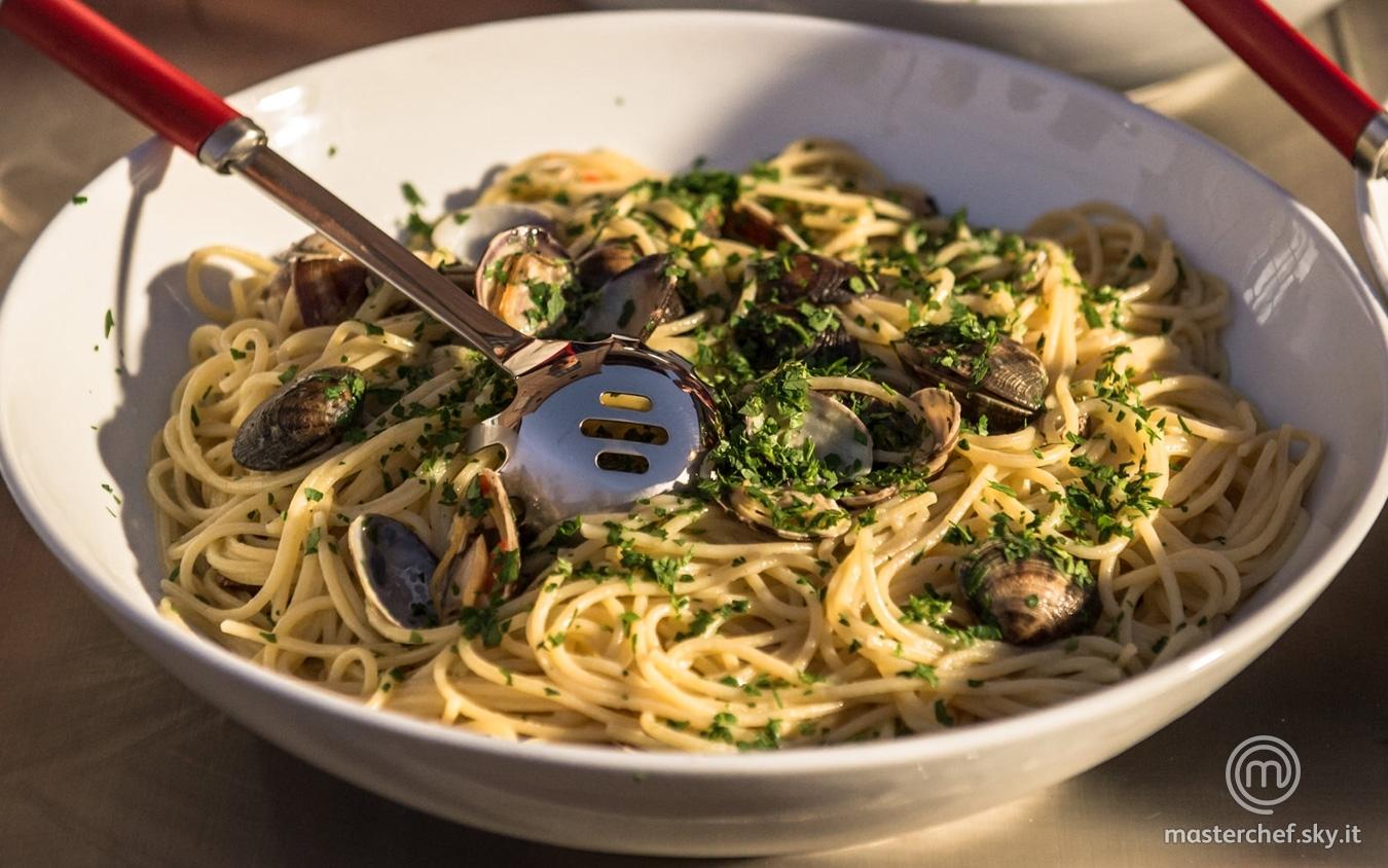 Spaghetti alle vongole con zenzero