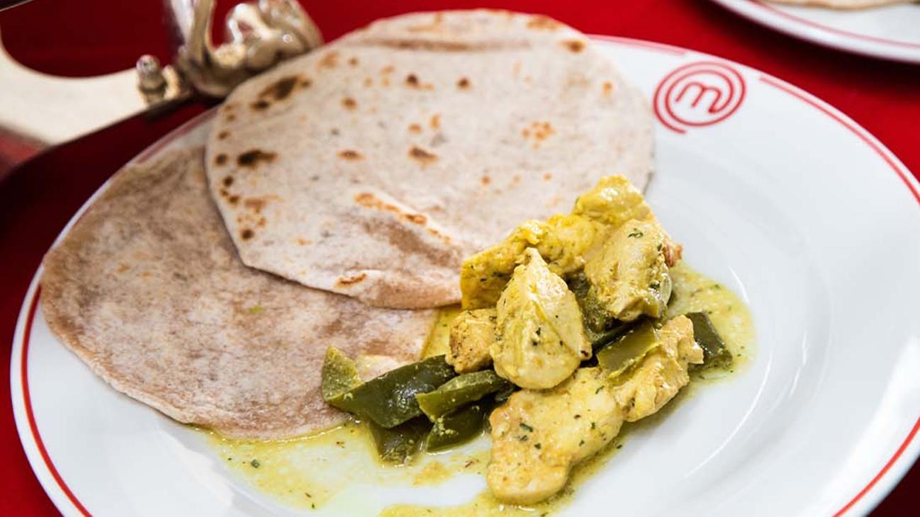 Pollo Tikka con chapati