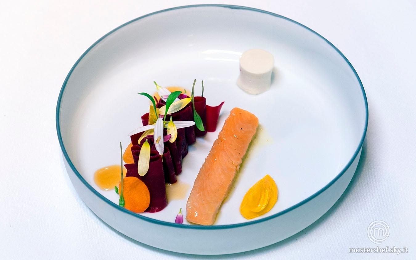 Salmerino e carote