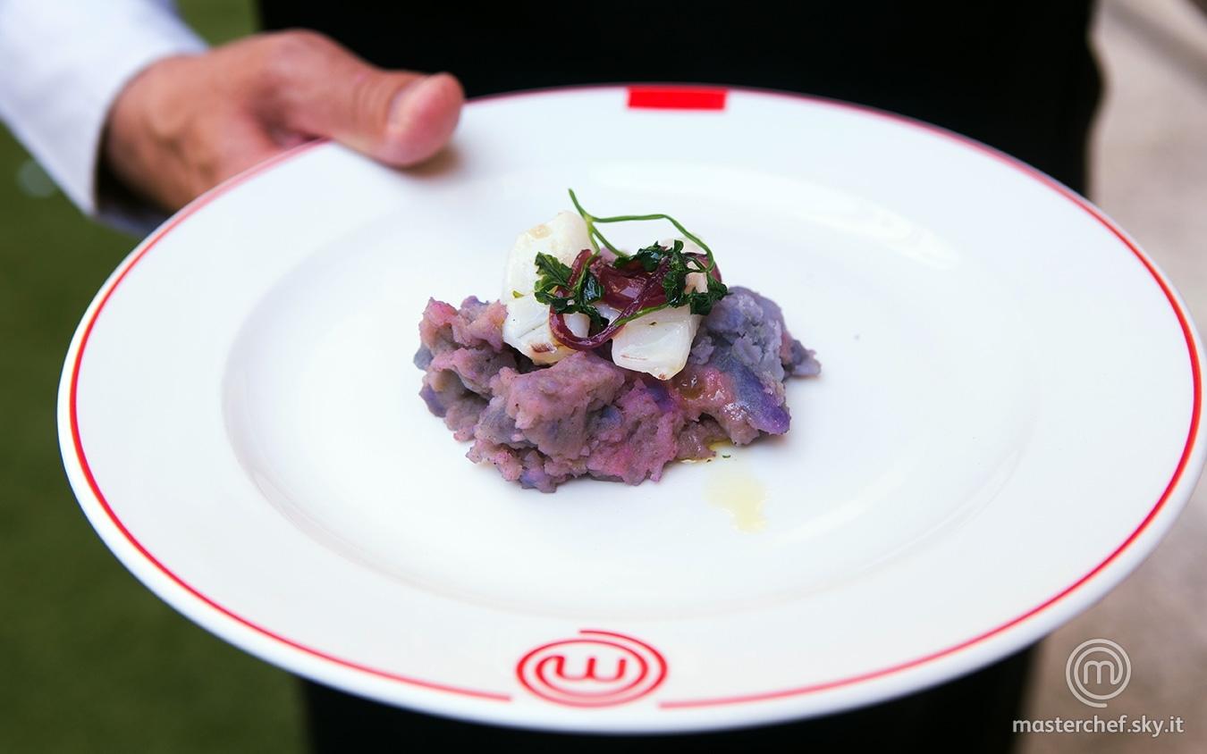 Seppie alla griglia con patate viola