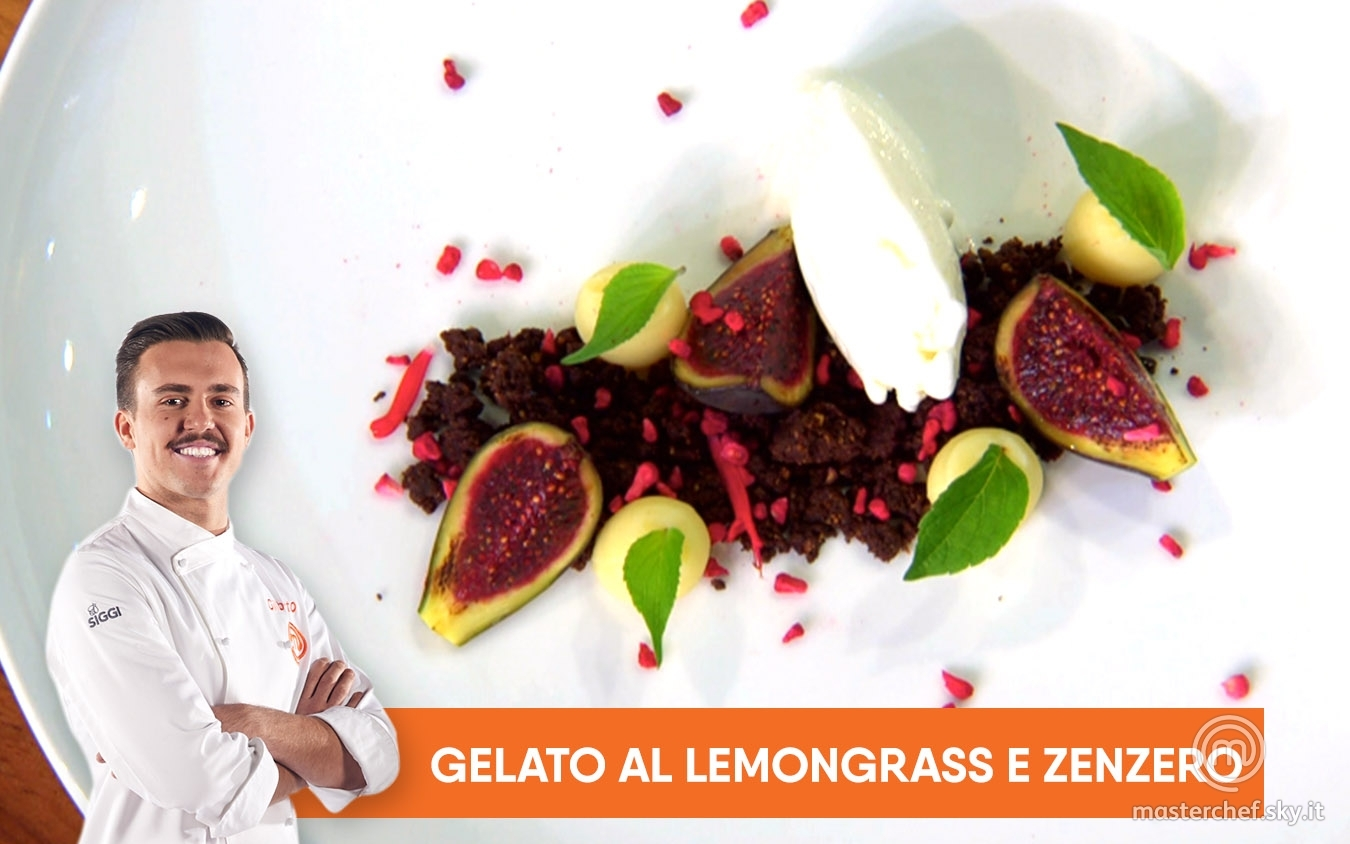 Gelato al lemongrass e zenzero