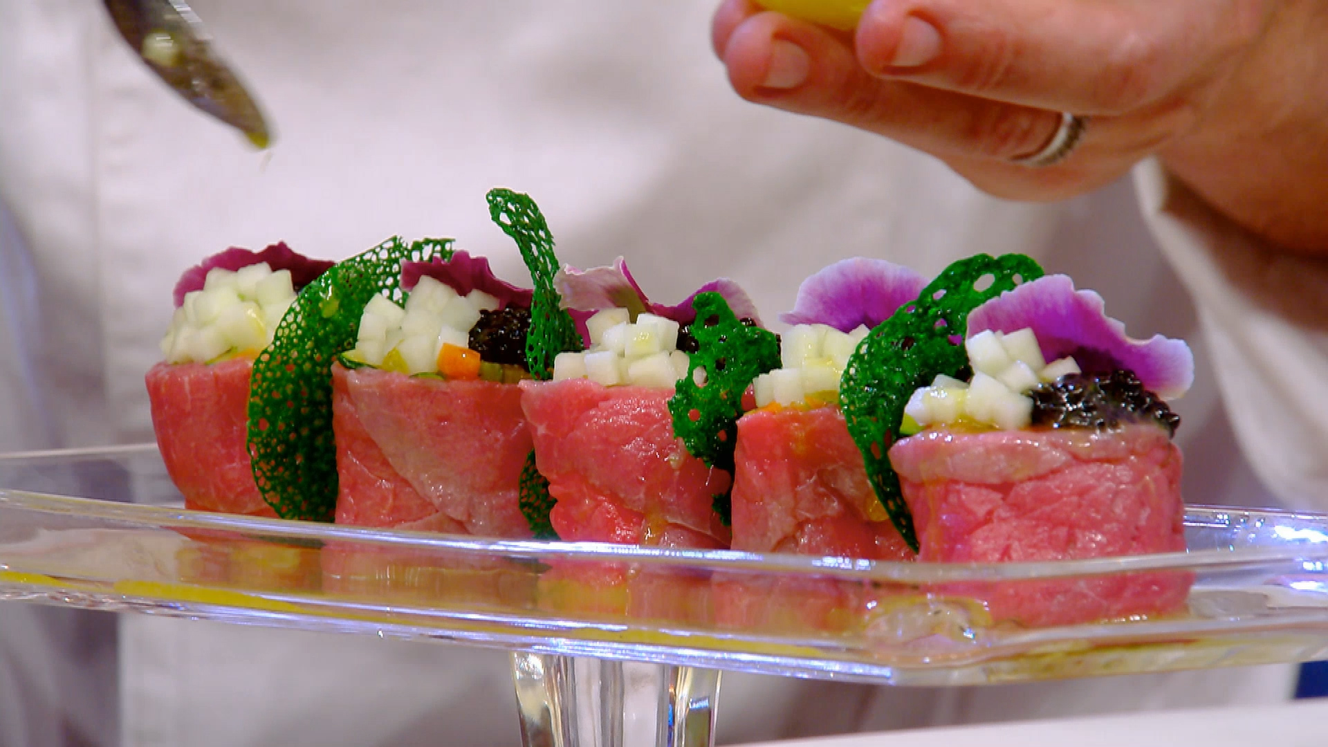 Finger food di manzo di Chef Antonio Lorenzon