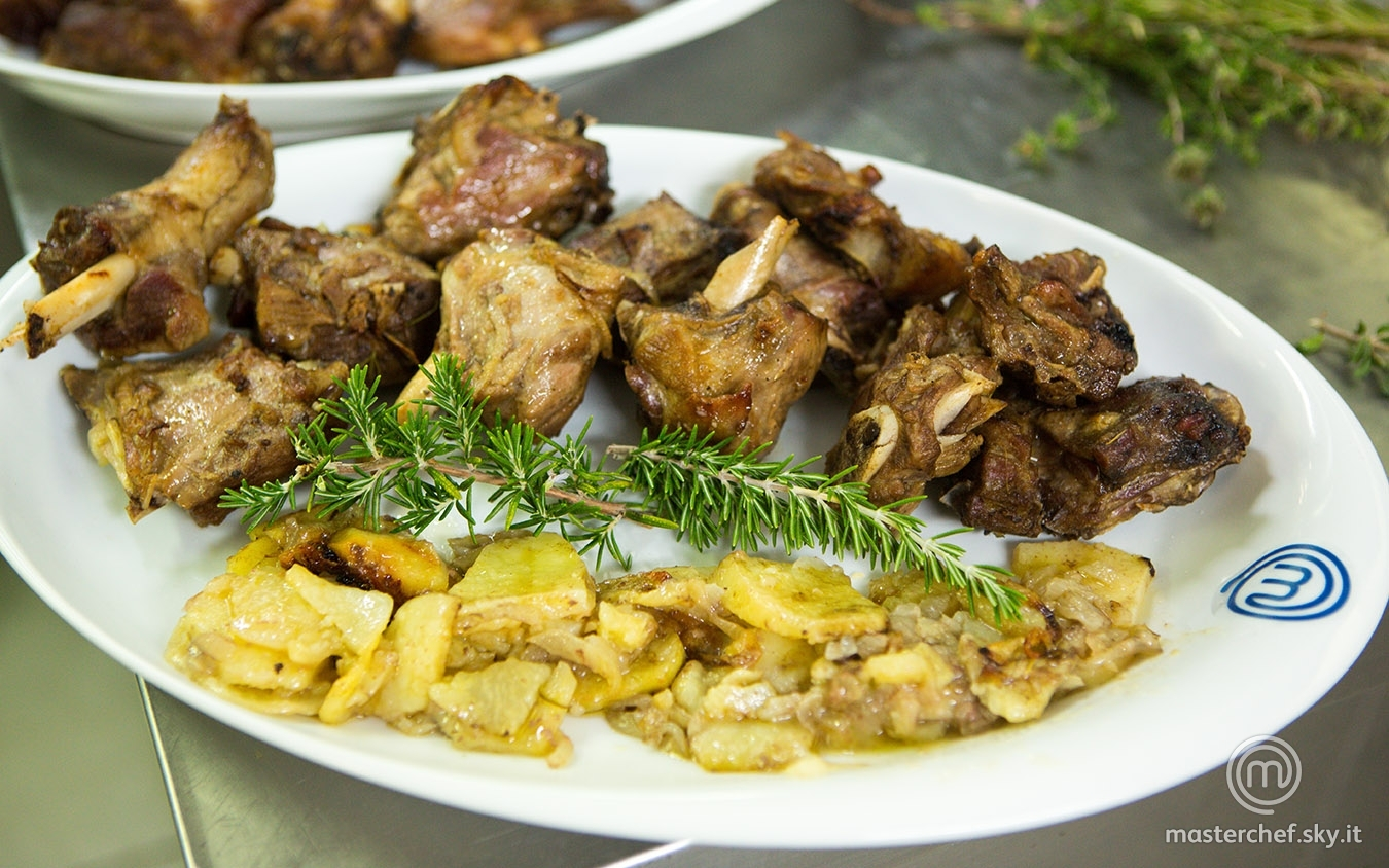 Agnello arrosto con patate