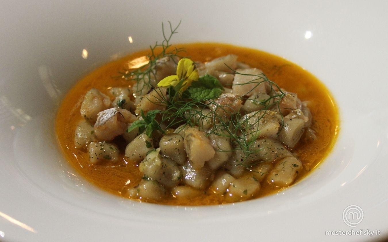 Gnocchi di patate con sbroscia e aglio
