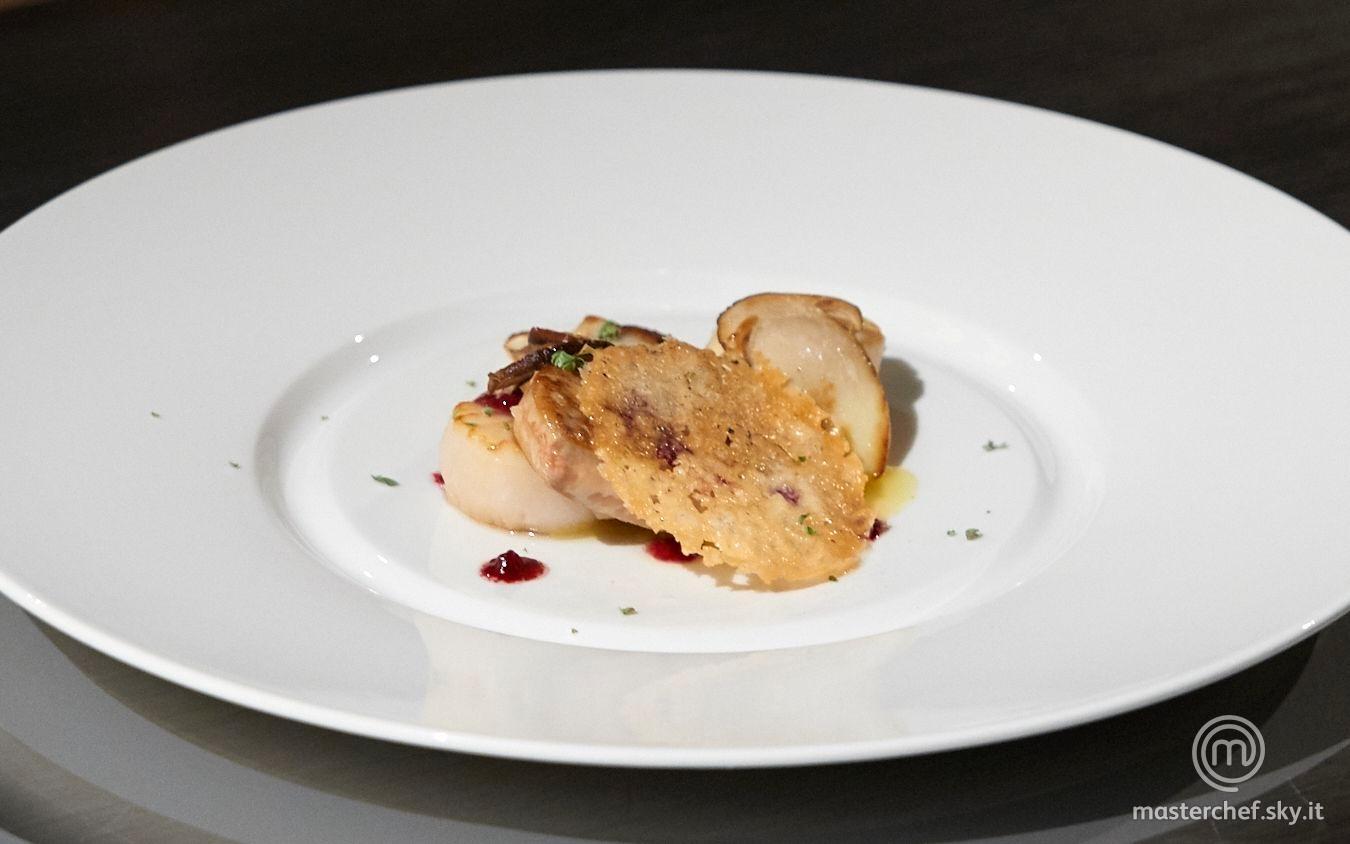 Foie gras, capesante e porcini