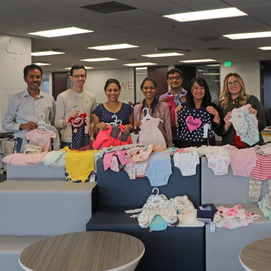 With just a few days left in our baby clothing drive, we've already collected hundreds of items! Everything will go to @whiteponyexpress to be given to local parents in need. #yapstone #yapcares #givingback