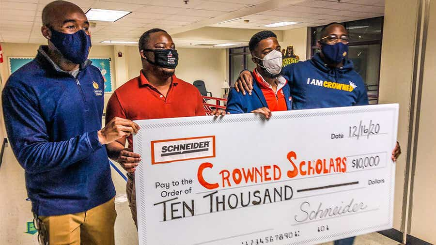 Crowned Scholars, Dallas, Texas, receives Diversity, Equality and Inclusion Grant from Schneider.