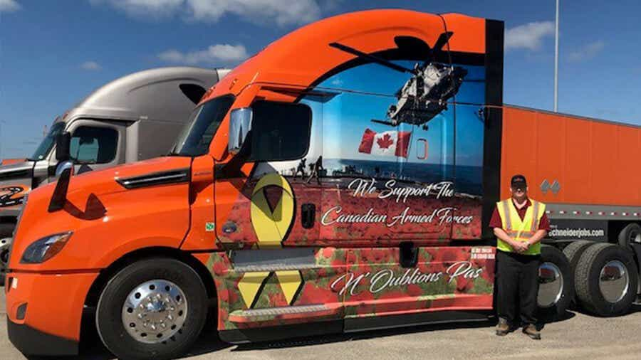 Michael Cunningham has been chosen as this year's Canadian Ride of Pride truck driver.