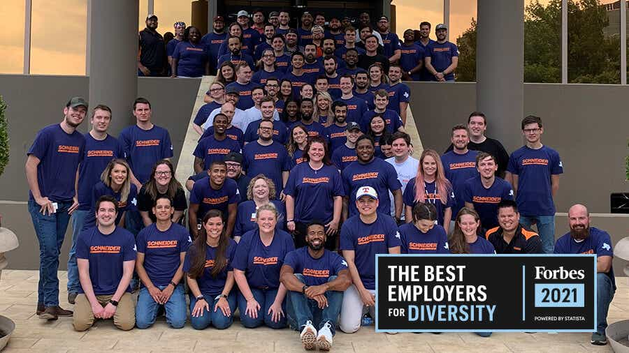 Schneider named a Best Employer for Diversity by Forbes