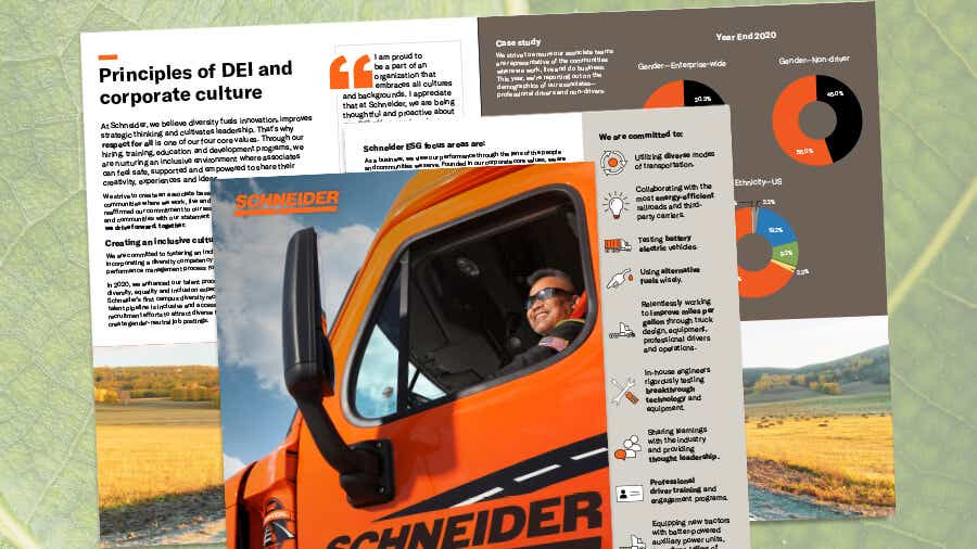 Schneider releases first-ever annual corporate responsibility report.