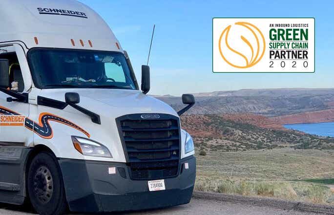 Inbound Logistics Honors Schneider With Its 12th Consecutive Green Supply Chain Partner Award