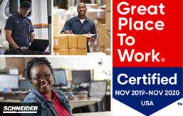 Schneider Certified as a Great Place to Work