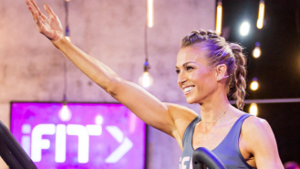 Trainer leads iFIT class