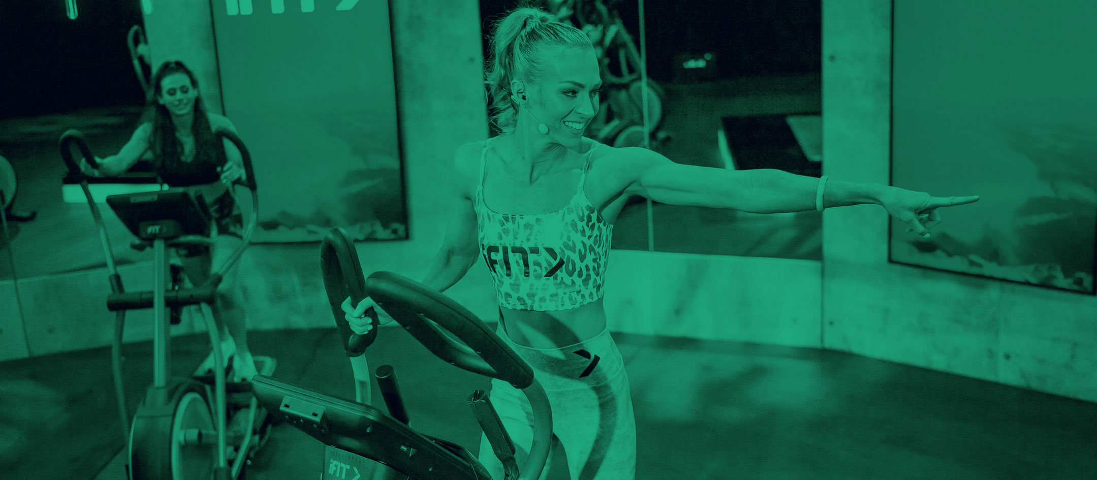 iFIT trainer on an elliptical