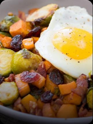 Brussels Sprouts Sweet Potato Breakfast Hash