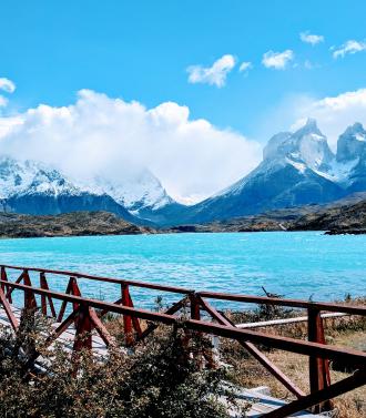 Beautiful mountain lake in Chile