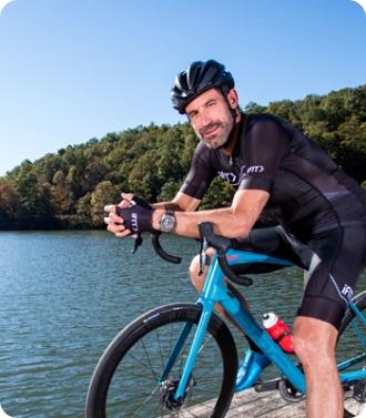 iFIT Carolina Blue Ridge Adventure cycling workout series