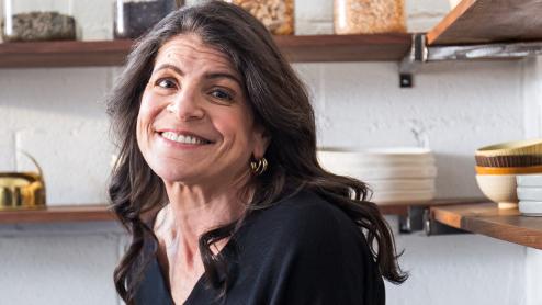 Dr. Eva Selhub in a kitchen