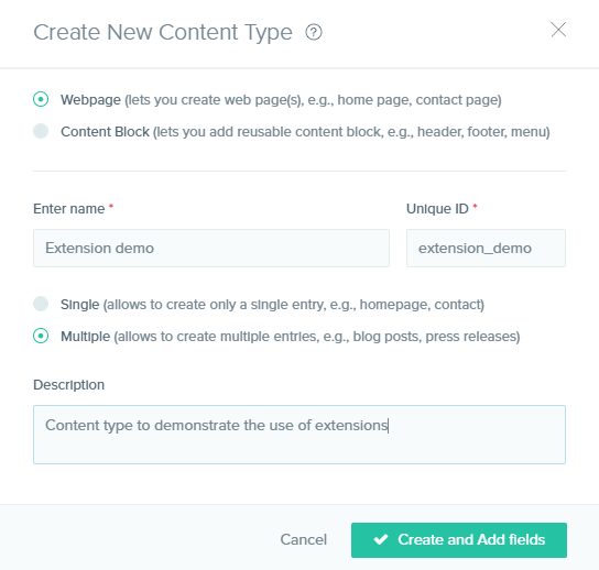 create content type box