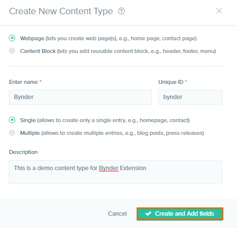 bynder content type