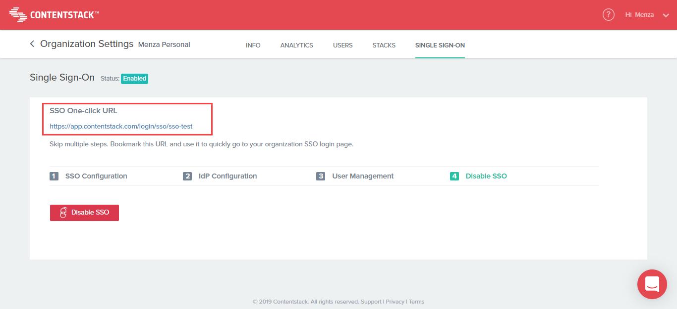SSO One-click URL