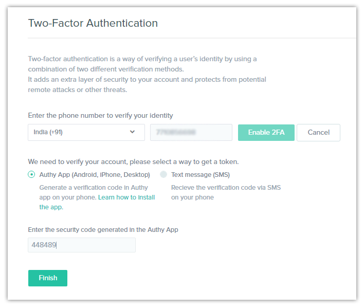 Two Factor Authentication 2fa Contentstack Documentation