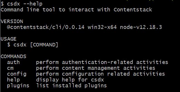 CLI_installation
