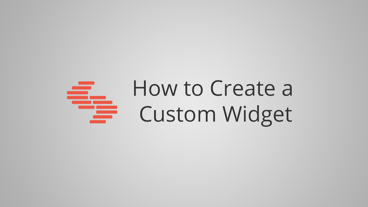 how to create a custom widget in Contentstack