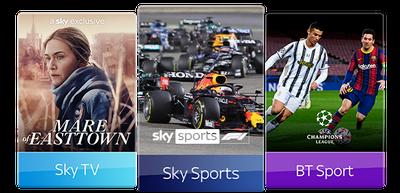 Sky TV, Sky Sports & BT Sport