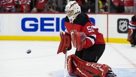 Nico Daws makes 24 saves in NHL debut as Devils top Sabres 2-1 in OT