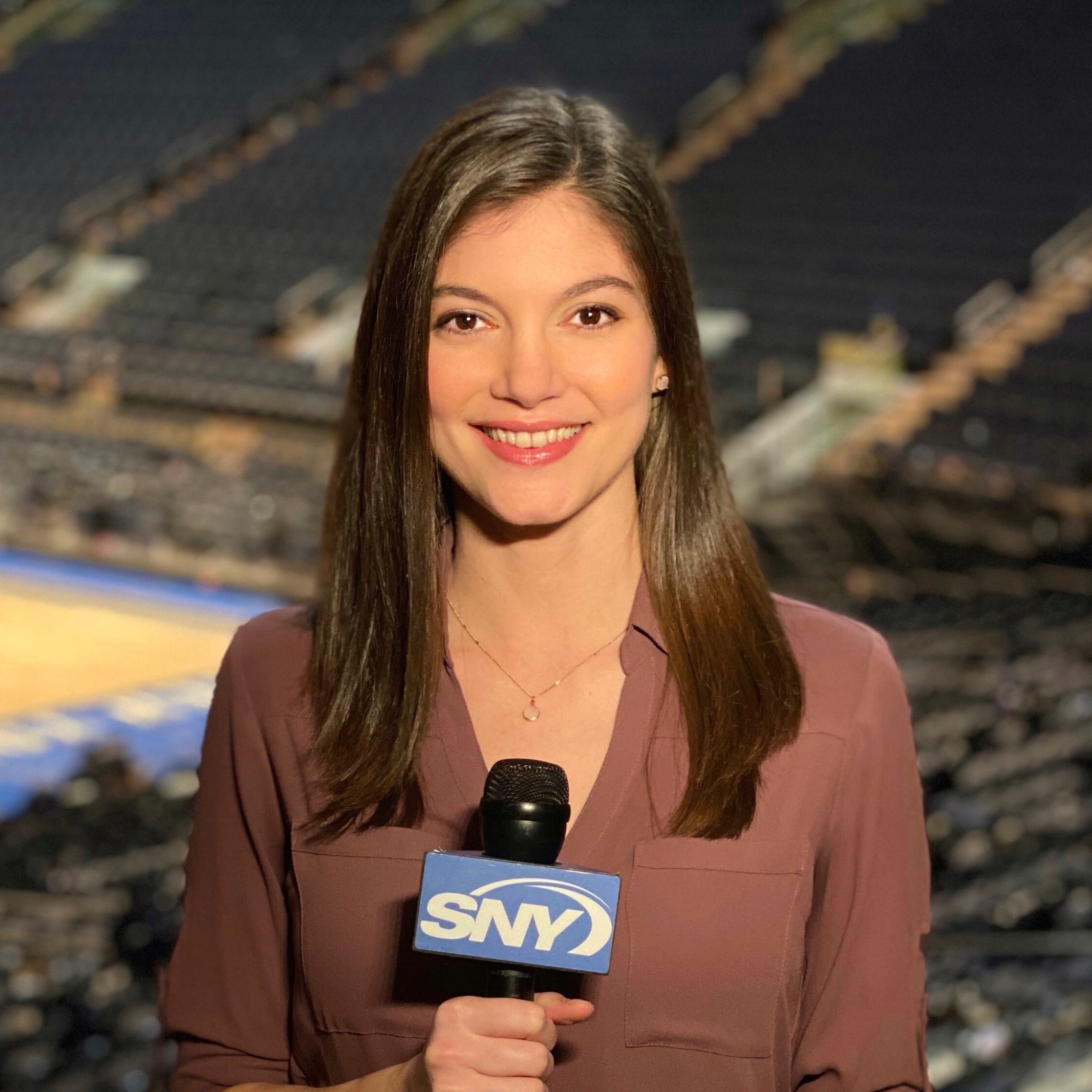 "Maria Marino started bringing her passionate sports takes to SNY in May of 2018. She became a contributor to multiple studio shows, then added hosting and anchoring to her rotation, along with field reporting. When college basketball rolled around, she handled sideline reporting of the UConn men's team. The following season, she moved over to UConn women's basketball programming, including hosting The Geno Auriemma Show. In addition, Maria has been a regular on GEICO Sports Nite and Place Your Bets.  Prior to SNY, Maria was a host and analyst at FNTSY Sports Network, churning out daily digital content for FanDuel and the NBA/WNBA. She was also a panelist on the NFL Sunday pregame show, ""Lineup Lock Live"" and weekly prime-time show, ""Foul Territory"" featuring table discussions on sports and pop culture.  Maria also worked as a national anchor for NBC Sports Radio and SiriusXM Radio, where she had weekly segments on channels like NBA Radio and Mad Dog Radio, and co-hosted shows on Fantasy Sports Radio. She conducted interviews of NBA and Olympic athletes, and covered the ACC men's basketball tournament as well.  Maria was born and raised in New Jersey and graduated Summa Cum Laude from Ramapo College with a Bachelor's of Arts degree in communications and journalism."