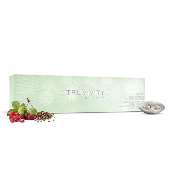 ทรูวิวิตี้ บาย นิวทริไลท์ เครื่องหมายการค้า ทรูมิสต์ ผลิตภัณฑ์เสริมอาหารชนิดเม็ด บรรจุ 60 เม็ด (บรรจุกล่องละ 30 แผง/แผงละ 2 เม็ด)