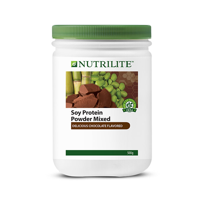 Nutrilite Soy Protein Powder Mixed (Delicious Chocolate Flavored) 500g