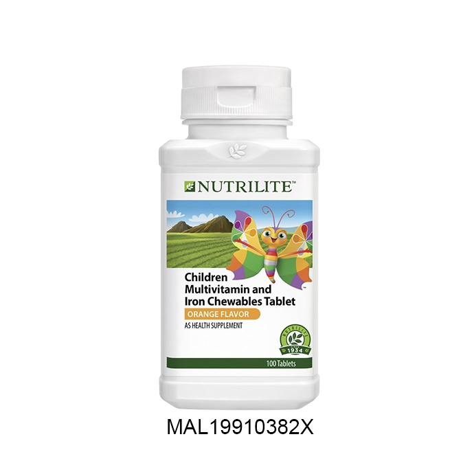 Nutrilite Children Multivitamin And Iron Chewables Tablet (100 tab)