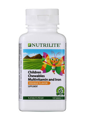 Chewables Multivitamin and Iron Supplement