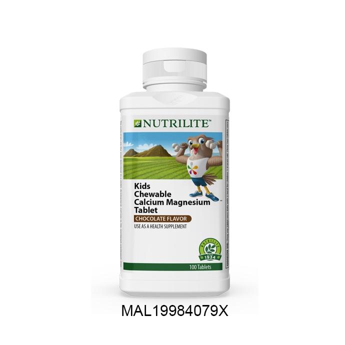 Nutrilite Kids Chewable Calcium Magnesium Tablet (100 tab)
