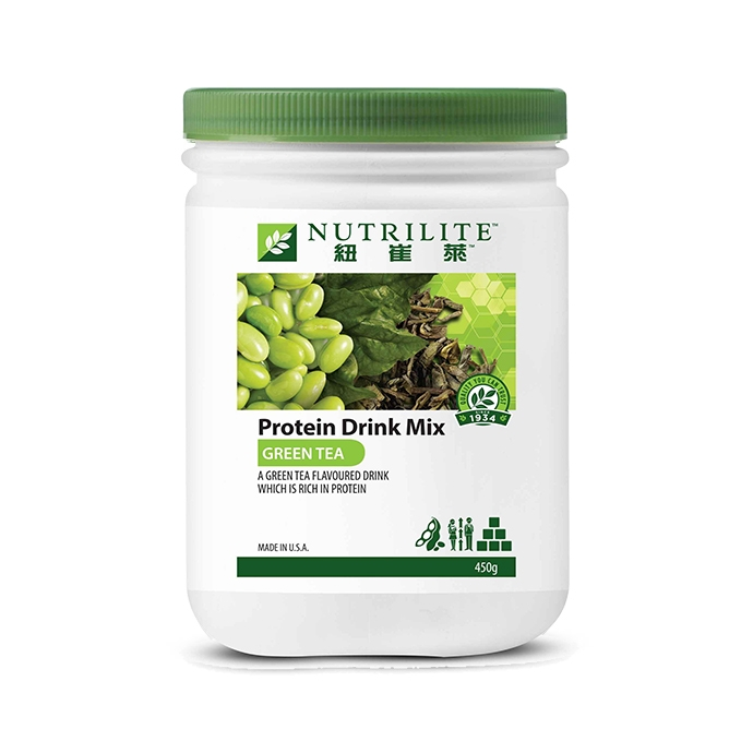 NUTRILITE Protein Drink Mix (Green Tea Flavour) 450g