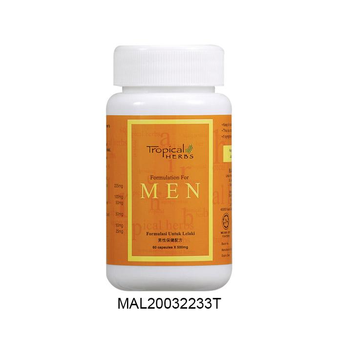 Tropical Herbs Formulation for Men (60 cap)