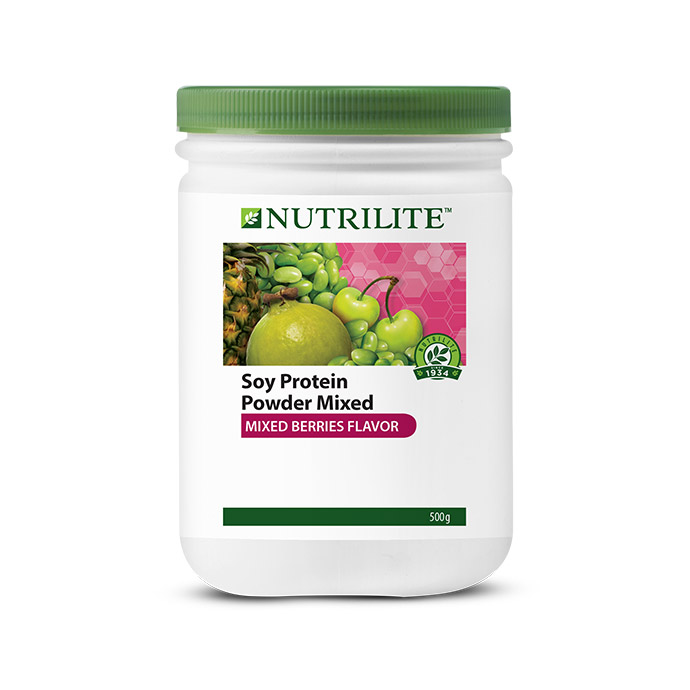 Nutrilite Soy Protein Powder Mixed (Mixed Berries Flavor) 500g