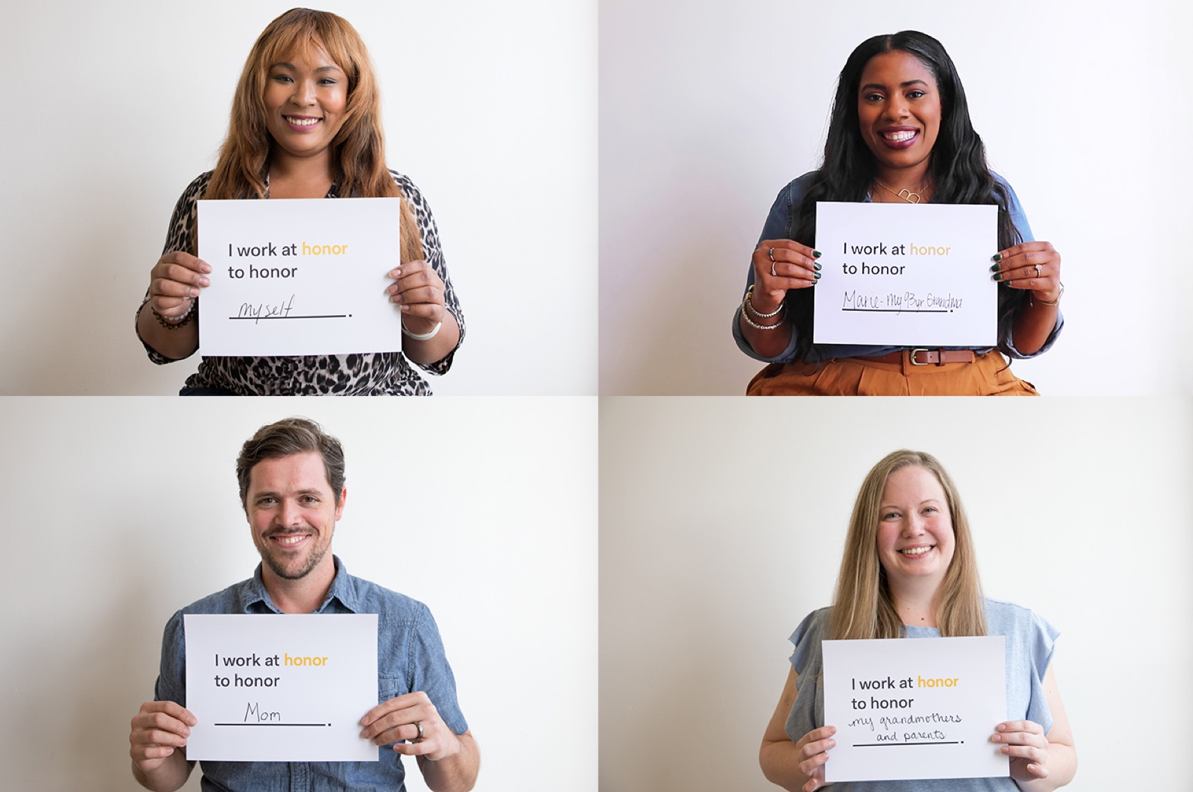 Four of our fab new Austin team members—and one big reason they joined Honor.